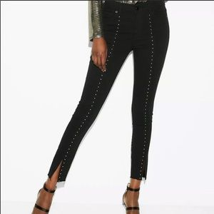Express High Rise Ankle Jeans